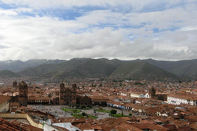 カサデルインカから見たアルマス広場