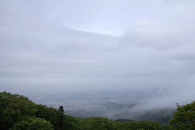 キャンプ場からの桜川市内の様子