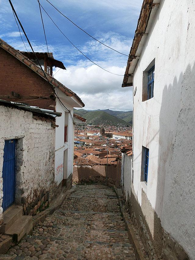 カサデルインカ前からの景色