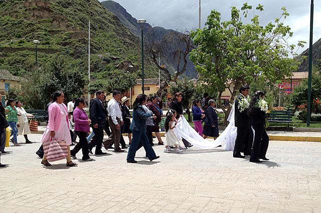 偶然結婚式に遭遇