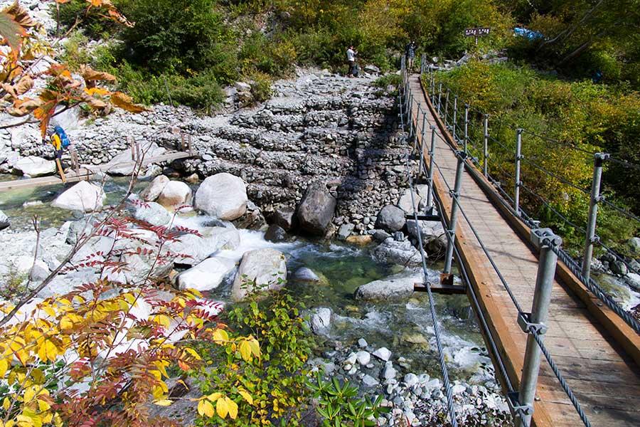 本谷橋の吊り橋