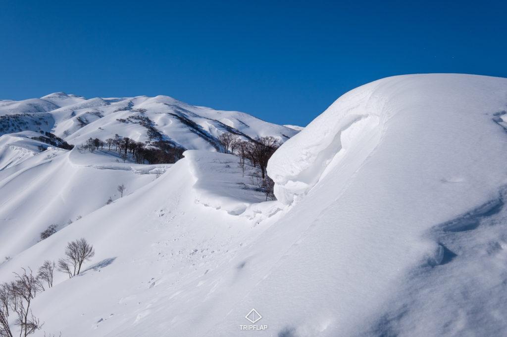 大きな雪庇